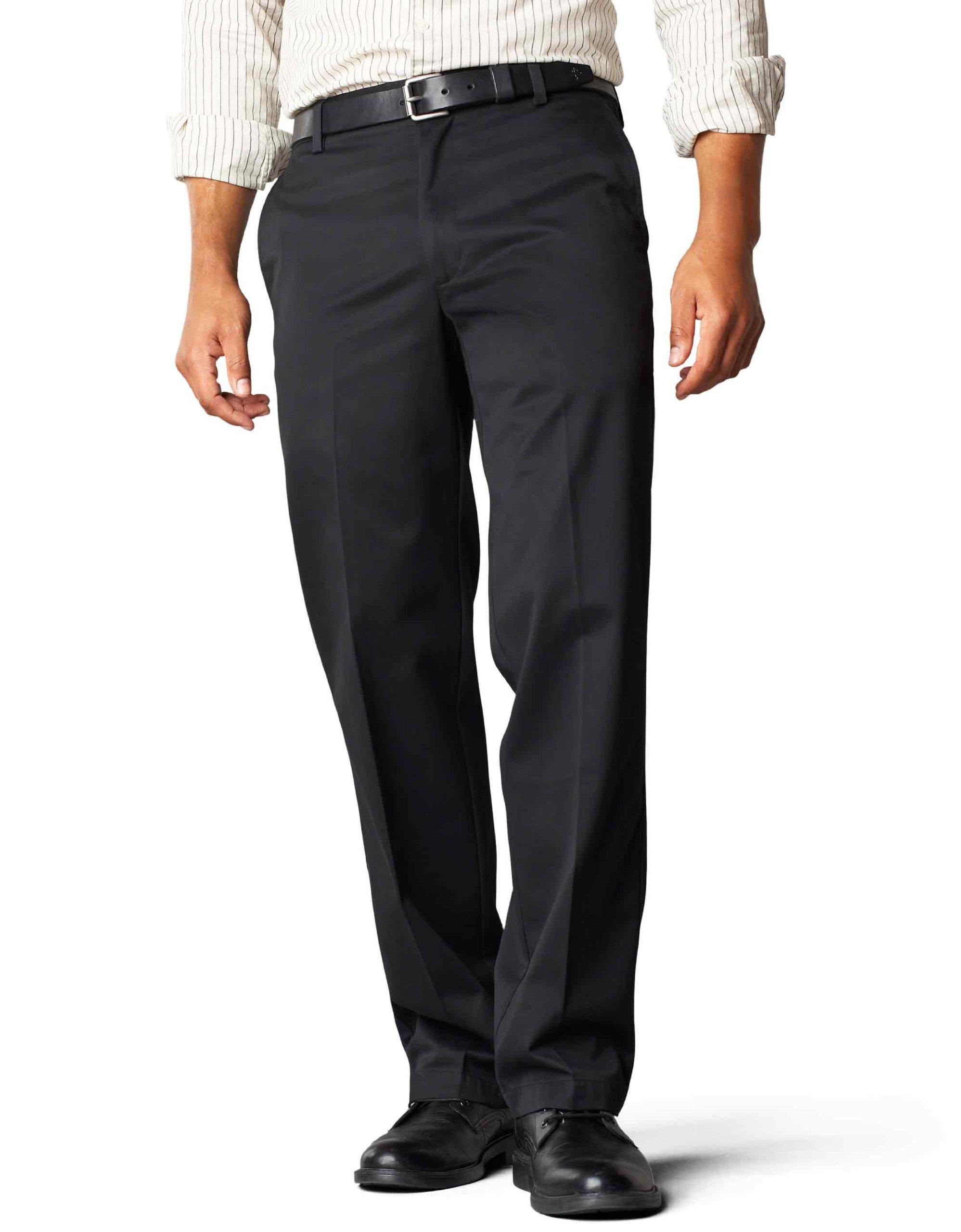 Dockers Men's Straight Fit Signature Khaki Pant D2, Black (Cotton) -discontinued, 38W x 29L