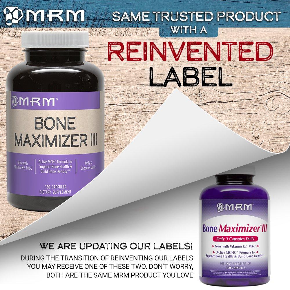 MRM - Bone Maximizer III, Promotes Maximum Bone Health with Bone Support Minerals, High Potency (150 Capsules) by MRM (Image #1)