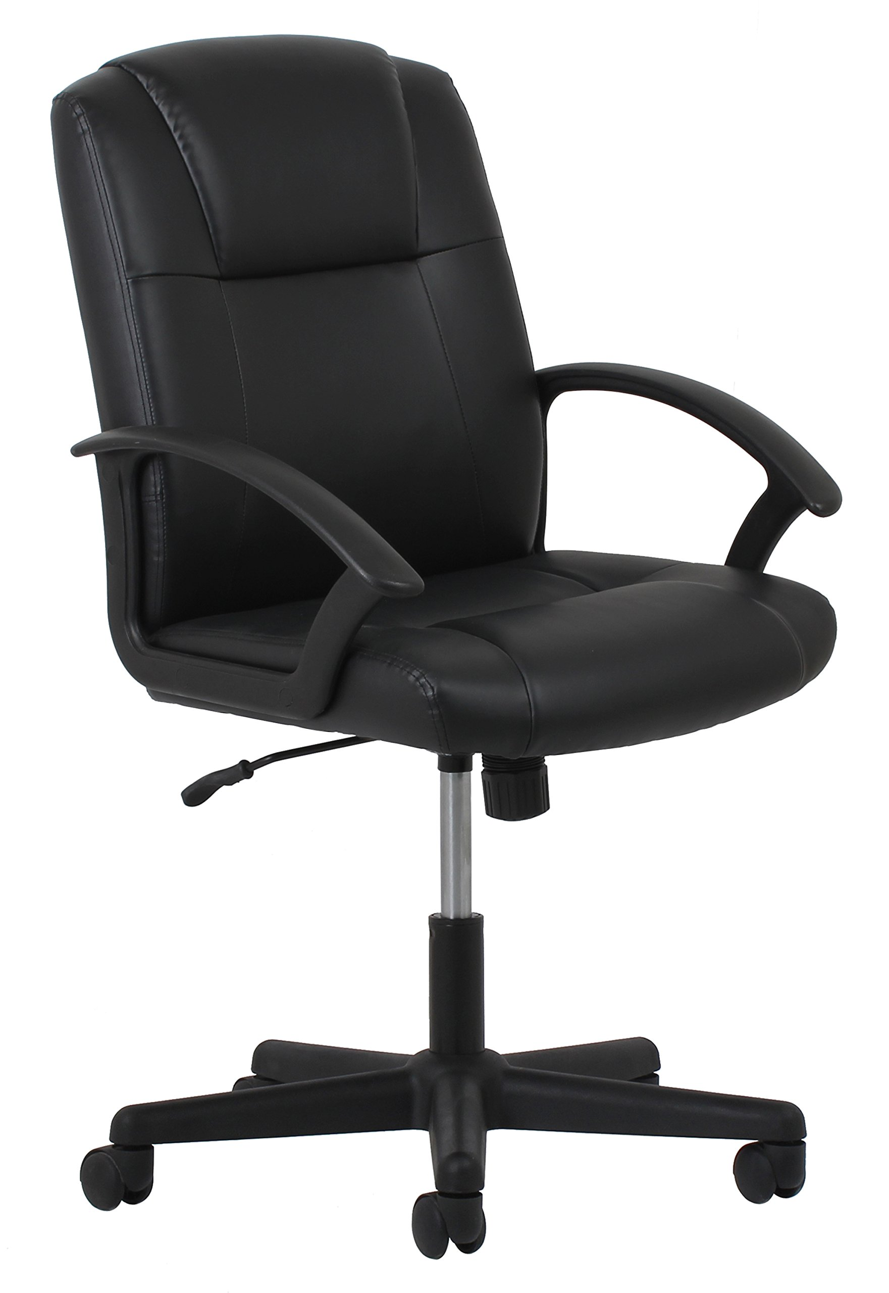 Essentials Leather Executive Office/Computer Chair with Arms - Ergonomic Swivel Chair (ESS-6000) by OFM