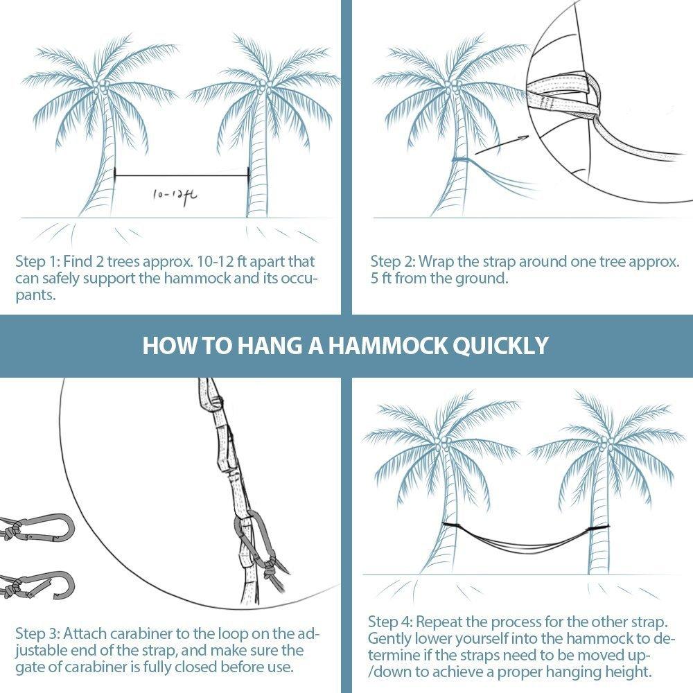 amazon com foho camping parachute silk double hammock sports