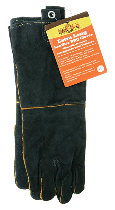 Mr. Bar-B-Q 40113X Leather Barbecue Gloves