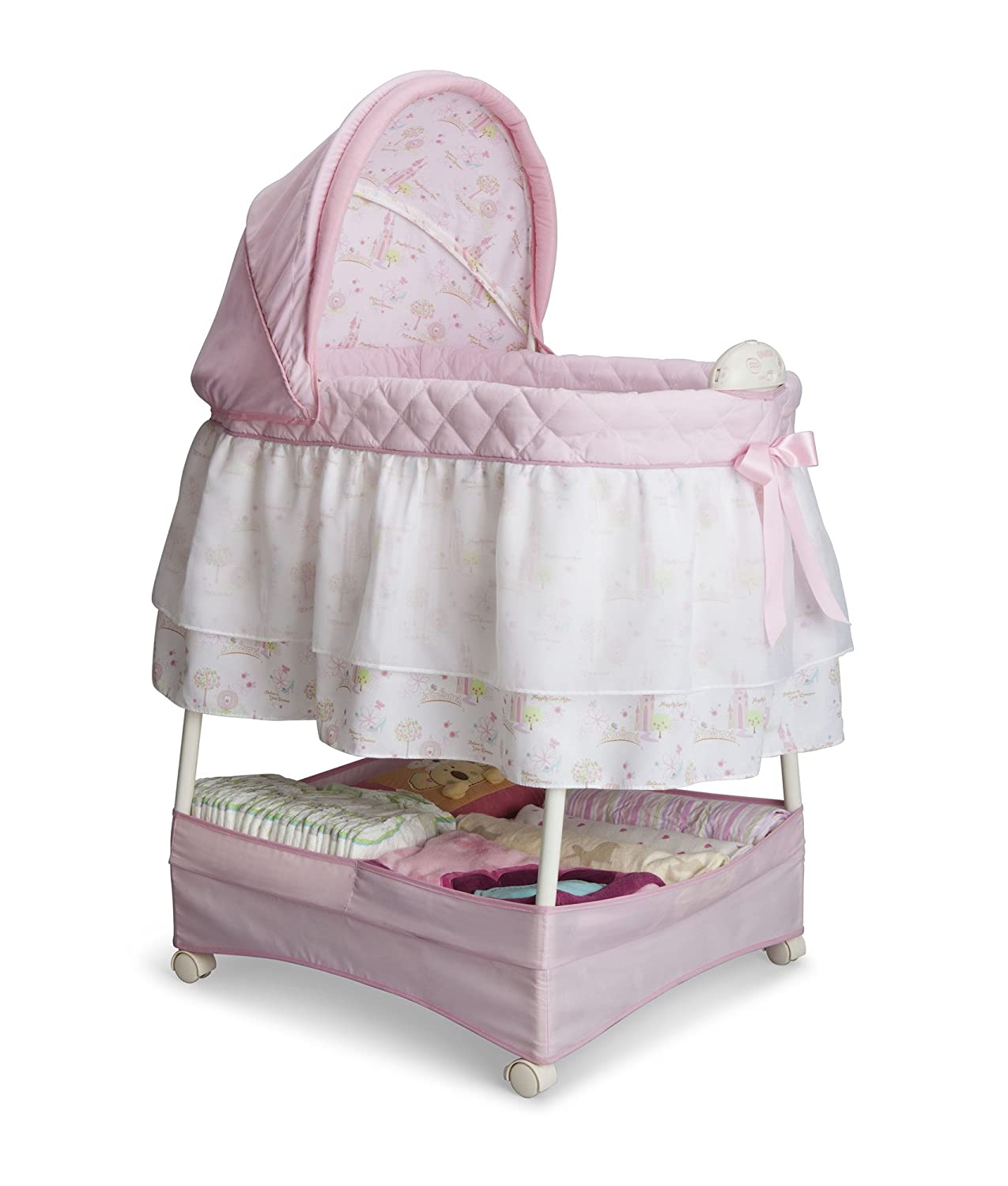 Delta Children Gliding Bassinet, Disney Minnie Mouse Boutique 27202-668
