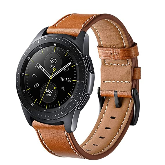 1ca61a342 Aimtel Compatible Samsung Galaxy Watch(42mm) Bands, 20mm Genuine Leather  Strap Replacement Band