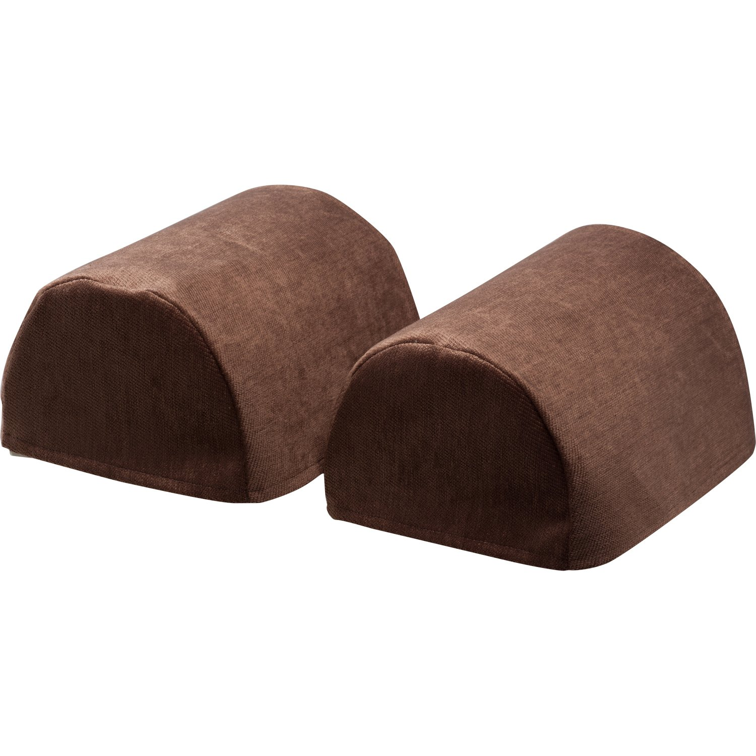 Classic Home Store Chenille Pair of Jumbo Round Arm Caps Plain Soft Touch Sofa Furniture Cover Antimacassar (Brown)