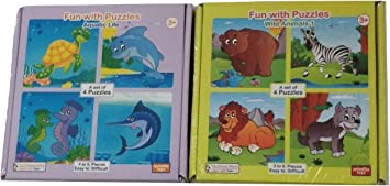 Fun With Puzzles Wild Animals 1 and Aquatic Life