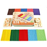 Rcool Baby Kids Wooden Number Sticks Blocks Mathematics Early Learning Counting Educational Toy Wisdom Development Puzzle Toy Child Gift