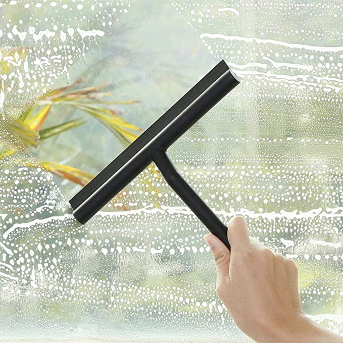 No Water Stains Shower Wiper with Hanging Hook DZSEE Silicone Shower Window Squeegees Cleaning Tool Window Wiper Shower Squeegees for Bathroom Floor Kitchen Wet Room Mirror Car Window Glass