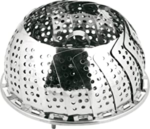 18-0 Stainless Steel Cooking, vegetable Steamer Basket/Insert for Pots, Pans, Crock Pots: Expantion diameter size 5.5 to 9.45