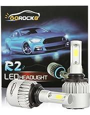 VoRock8 R2 COB 9006 HB4 9006XS 8000 Lumens Led Headlight Conversion Kit, Low Beam Headlamp, Fog Driving Light, Halogen Head Light Replacement, 6500K Xenon White, 1 Pair,1 Year Warranty