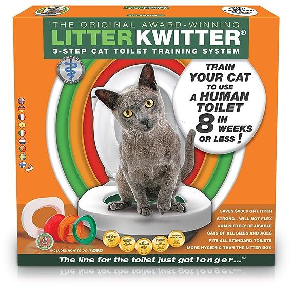 Doogie Stuff Ltd Litter kwitter LK1 3 de paso Baños de gatos Sistema de entrenamiento: Amazon.es: Productos para mascotas