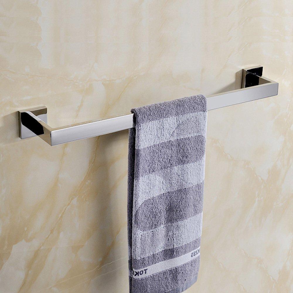 amazoncom leyden bathroom accessories chrome finish stainless steel material towel holder racks bar home u0026 kitchen