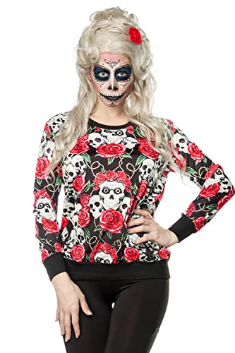 Skulls and Roses Sweatshirt by Luxury Good & Lingerie XS-M at Amazon Womens Clothing store: