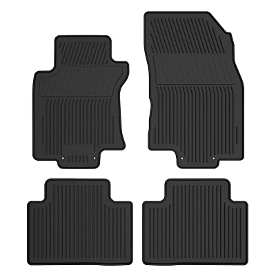 YITAMOTOR Floor Mats Compatible for 2014-2020 Nissan Rogue, Includes 1st & 2nd Row All Weather Protection Rubber Floor Liners (NOT for Select or Rogue Sport Model): Automotive