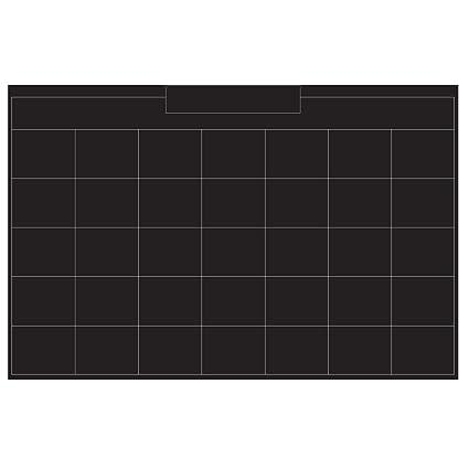 Amazon Com Wallies Peel And Stick Monthly Chalkboard Calendar Wall
