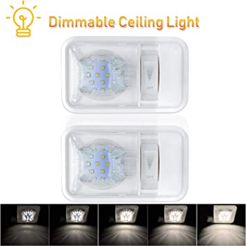 Marine Boat RV Ceiling LED Interior Dimmable Light Touch Switch