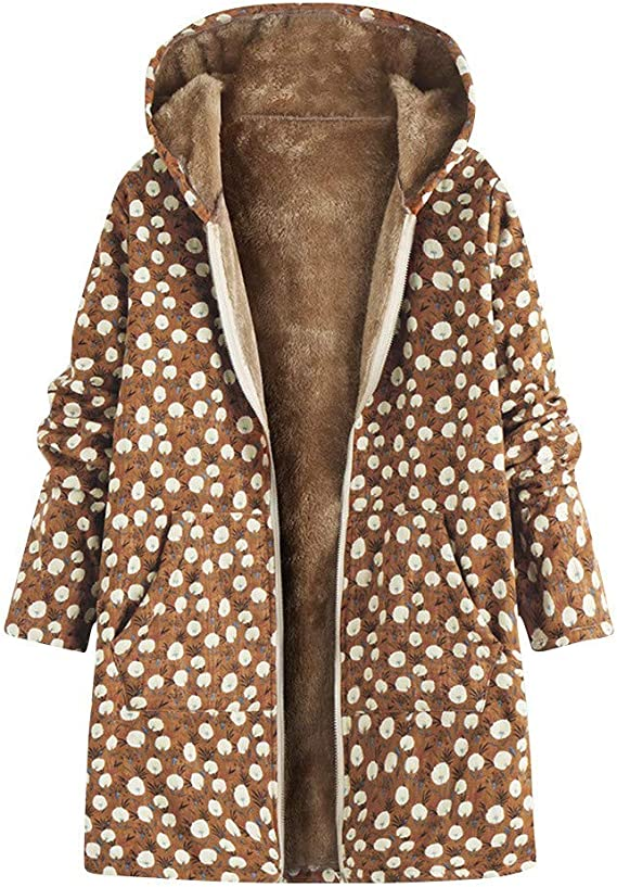 WOZOW Capuche à Capuchon Outwear Pochettes Oversize Manteau