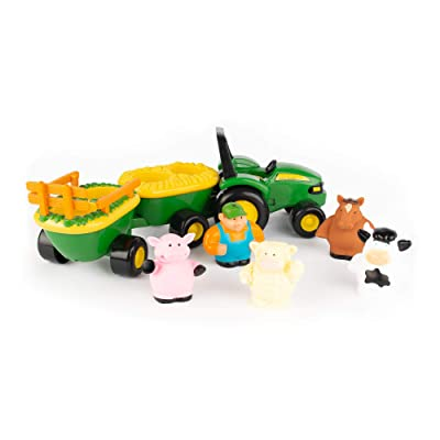 TOMY John Deere Animal Sounds Hayride Preschool Toy: Toys & Games