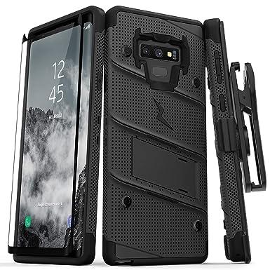 Zizo Bolt Cover - Carcasa para Samsung Galaxy Note 9 (con Protector de Pantalla, pie de Apoyo y Funda) Color Negro
