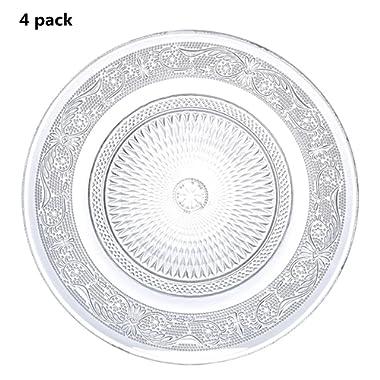 4 Pieces Restaurant Home Décor Accents Salad/Dessert Plate Cup Coaster,7 inch(set of 4)