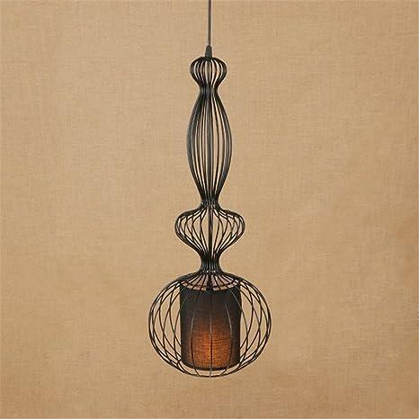 E27 Vintage Ave de jaula pastoral luces colgantes ajustables ...