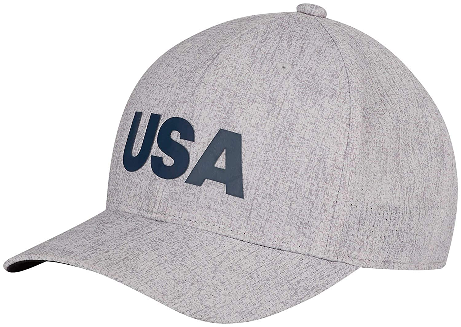 Amazon.com   adidas Heathered USA Golf Hat Cap DN4252 Grey One Size    Sports   Outdoors d9ee2fa9198