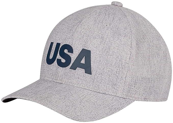 5676af4c08504 Amazon.com   adidas Heathered USA Golf Hat Cap DN4252 Grey One Size ...