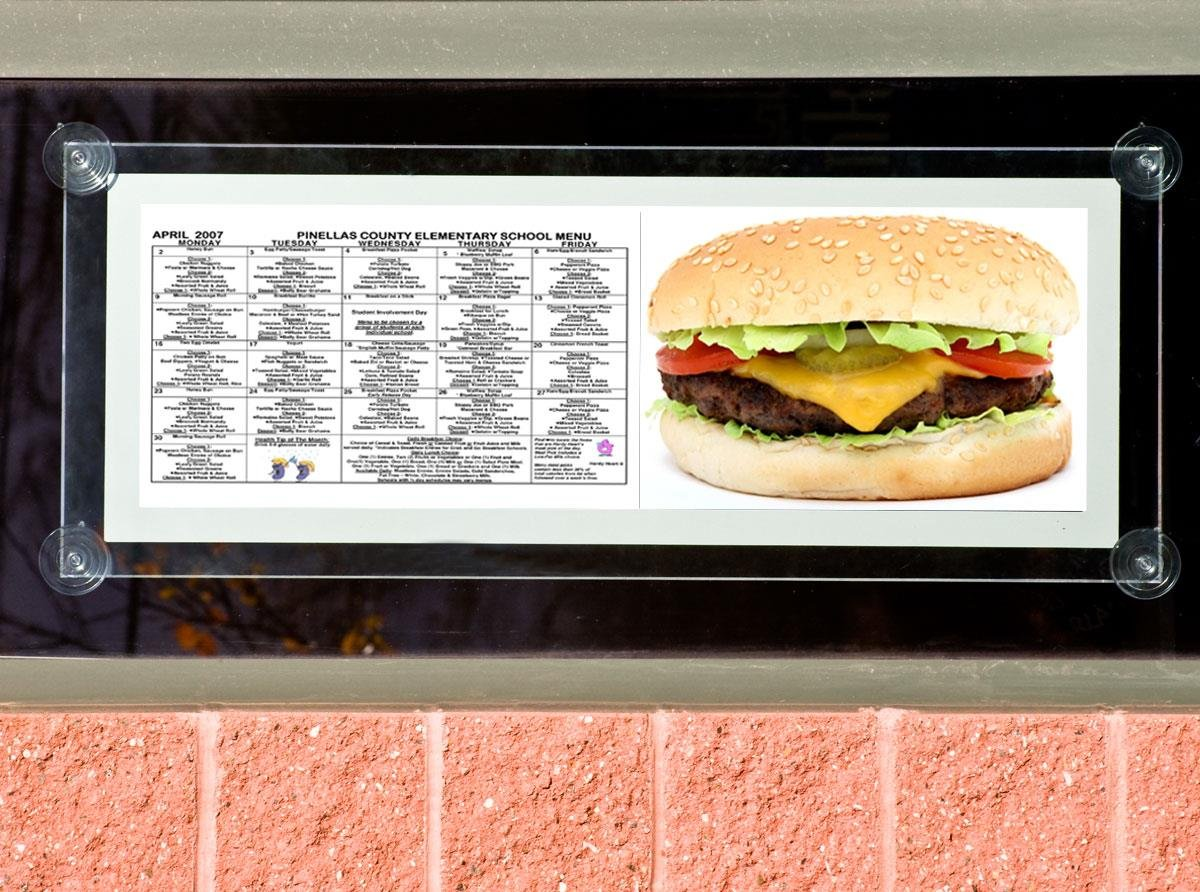 Displays2go 34 x 11 Acrylic Sign Holder for Wall or Window Use, LED Illuminated - Clear by Displays2go (Image #2)