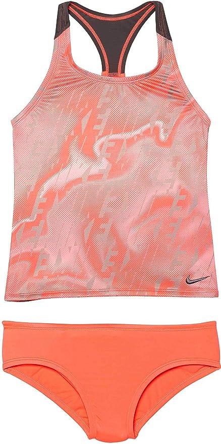 35b05c5e2ef37 Amazon.com : Nike Girl's Amp Axis Racerback Sport Tankini Set : Clothing