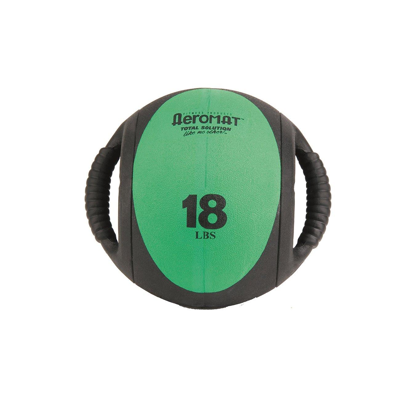 Aeromat Dual Grip Power Medicine Ball, 9cm/18-Pound, Black/Green