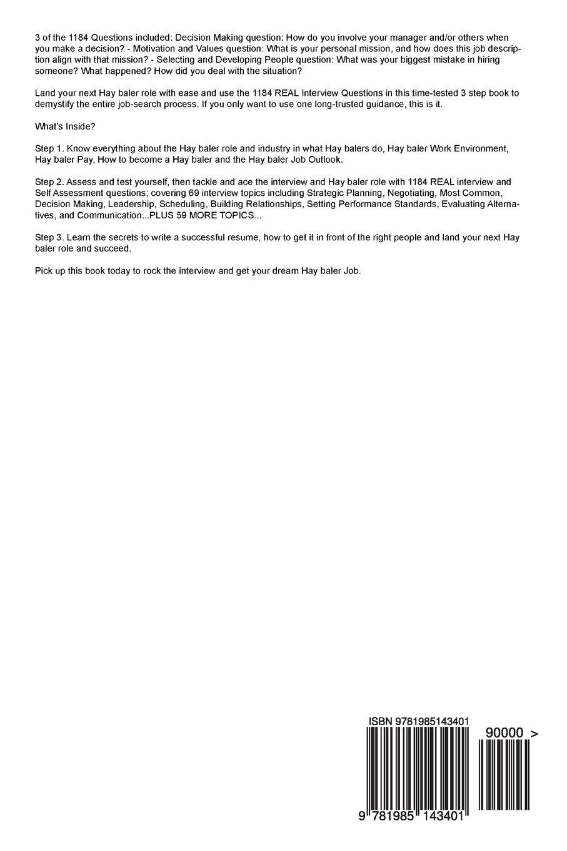 Hay baler RED-HOT Career Self Assessment Guide