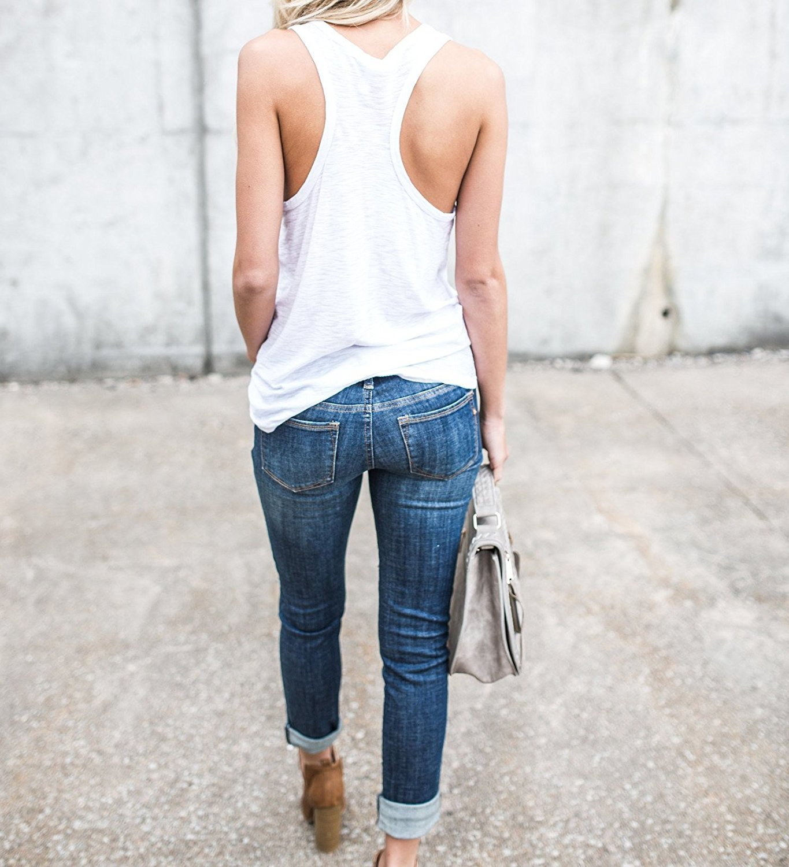 chimikeey Womens Skinny Stretch Denim Jeans Distressed ...
