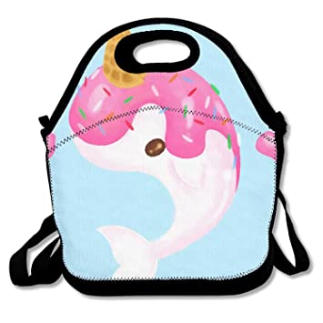 df68affd7f91 ZMvise Ice Cream Narwhal Lunch Tote Insulated Reusable Picnic Lunch ...