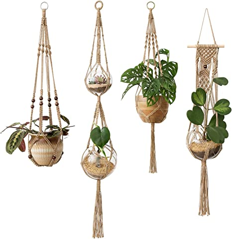 2Pack Plant Hanger Rope Macrame Hanging Planter Holder Basket Flower Pot Jute US