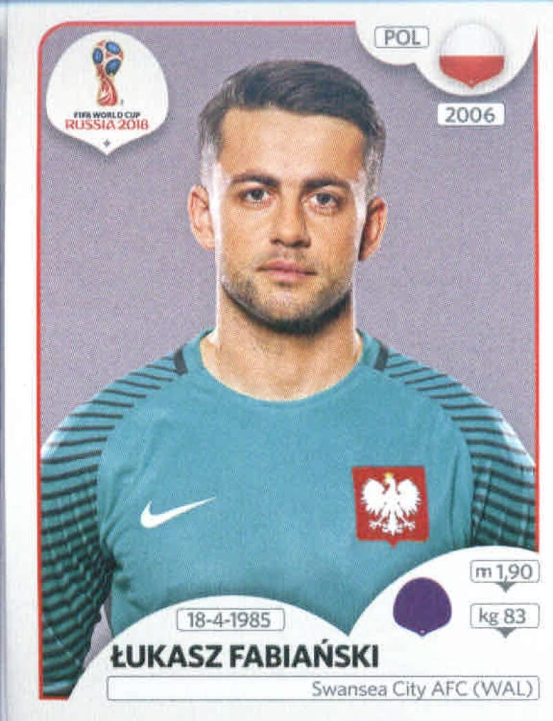 Polen Sticker 594 Panini WM 2018 World Cup Russia Lukasz Fabianski