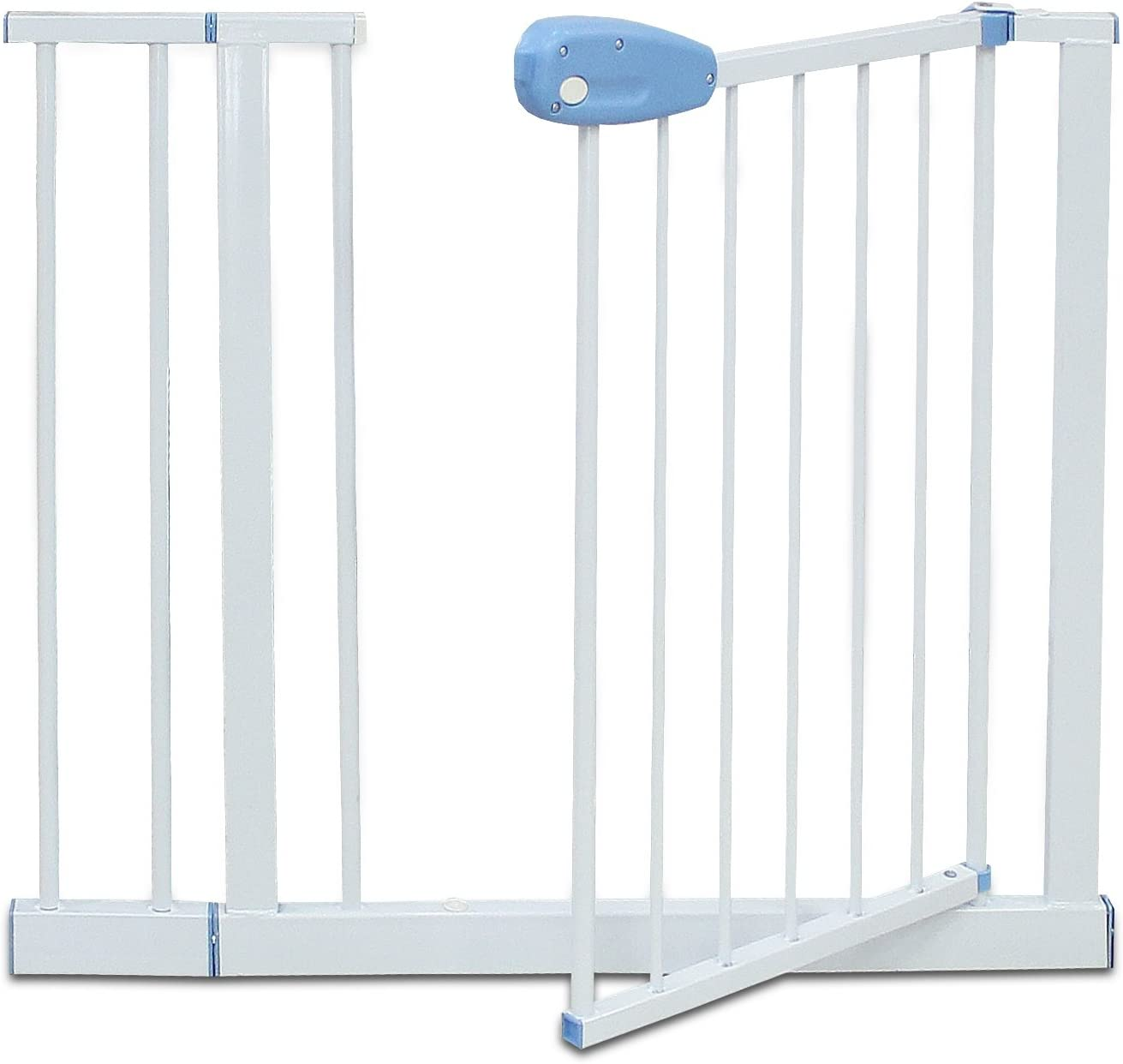 Blanco extensi/ón a 88-101 cm Barrera de Seguridad para Puerta Ajustable Alto: 74 cm Ancho: 74-87 cm Sotech Barrera de Seguridad para Beb/és