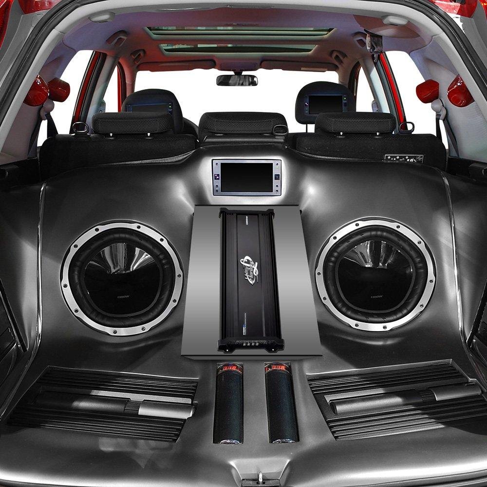 Lanzar Amplifier Car Audio, 4,000 Watt, 6 Channel, 2 Ohm, Bridgeable 4 Ohm, MOSFET, RCA Input, Bass Boost, Mobile Audio, Amplifier for Car Speakers, Car Electronics, Wireless Bluetooth (HTG668BT)