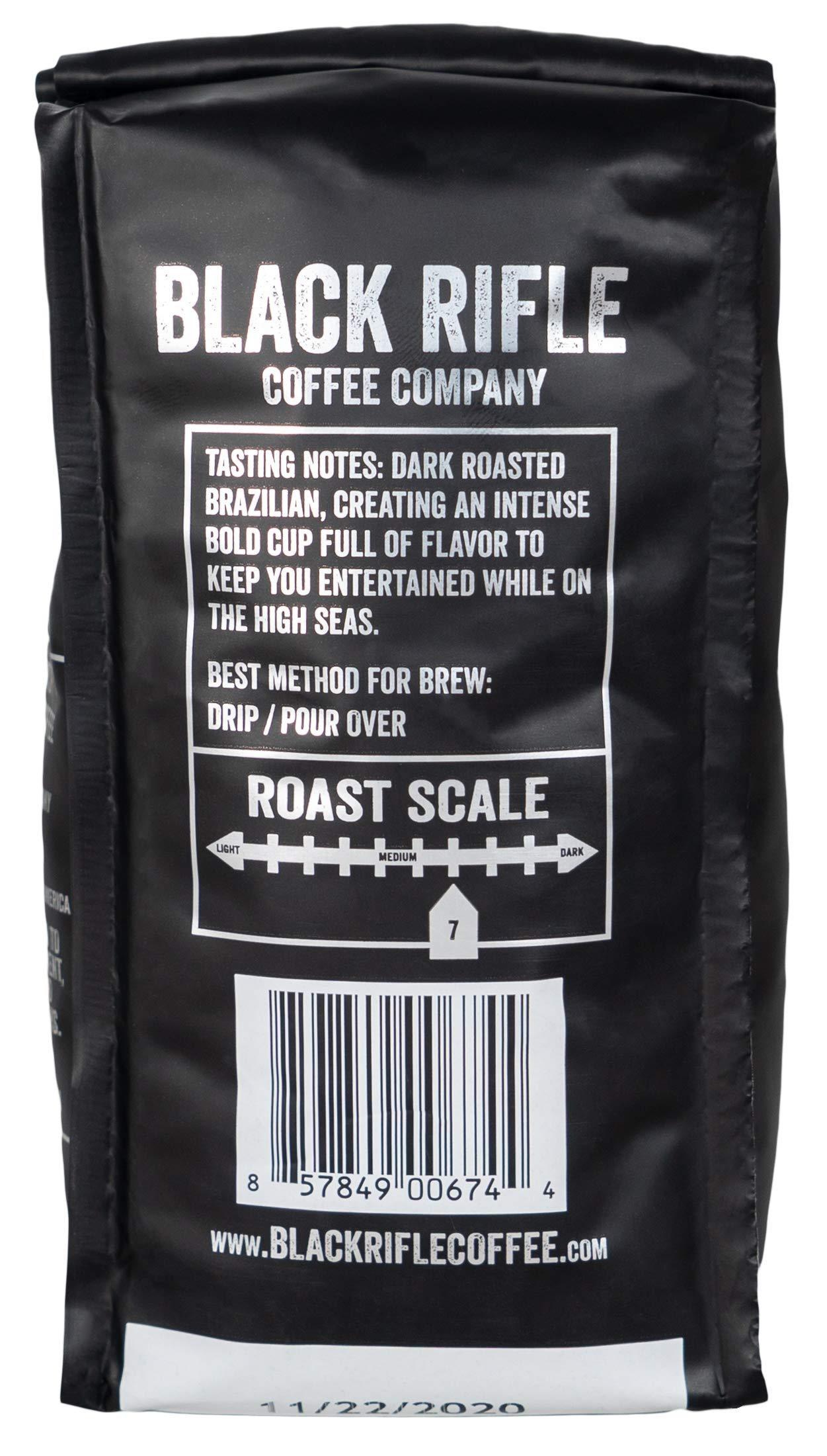Black Rifle Coffee Company Blackbeard's Delight Coffee Dark Roast Ground, 12 Ounce Bag by Black Rifle Coffee Company (Image #3)