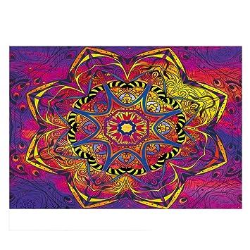 Etopfashion Tapiz de Mandala Flower Home Square Toallas de Playa Tapiz Impreso Tapetes de Playa Europeos y Americanos: Amazon.es: Hogar