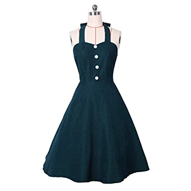 Vintage Dress Halter Sexy Summer Dress For Women Plus Size Party Casual Dress Feminino Rockabilly Vestidos