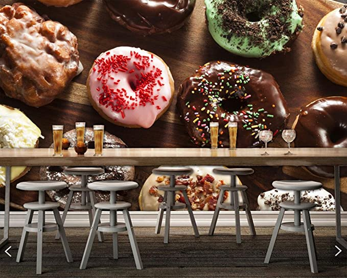 Pastelería Donuts Chocolate Food papel tapiz 3d, sala de estar ...