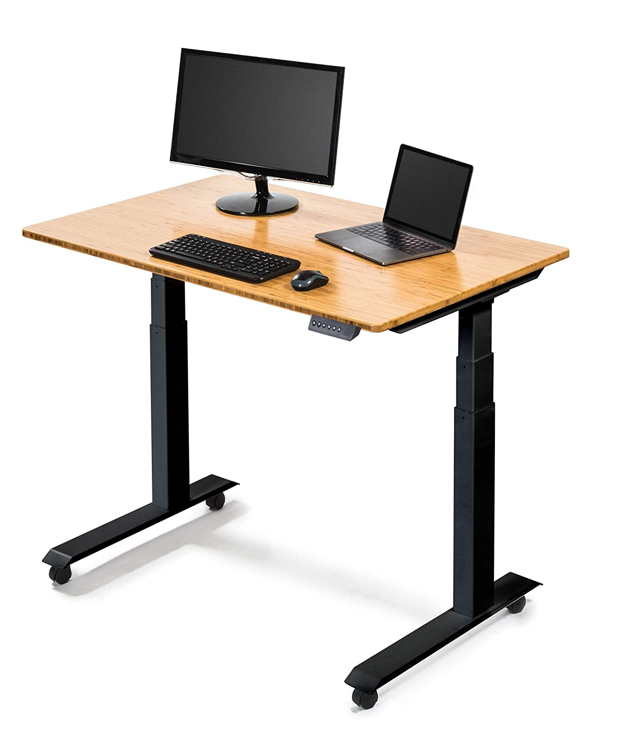 Amazon Com Stand Up Desk Store Electric Flat Top Desks Black Frame