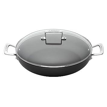 Le Creuset Cacerola Baja de Aluminio, Anodizado, Negro, 30 cm: Amazon.es: Hogar