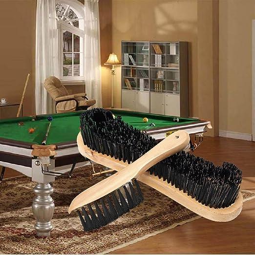 2pcs madera fieltro de carril de limpieza cepillo para billar ...