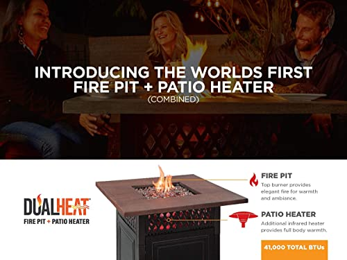 Golden Flame Endless Summer Donovan DualHeat Fire Table and Patio Heater Propane Ga