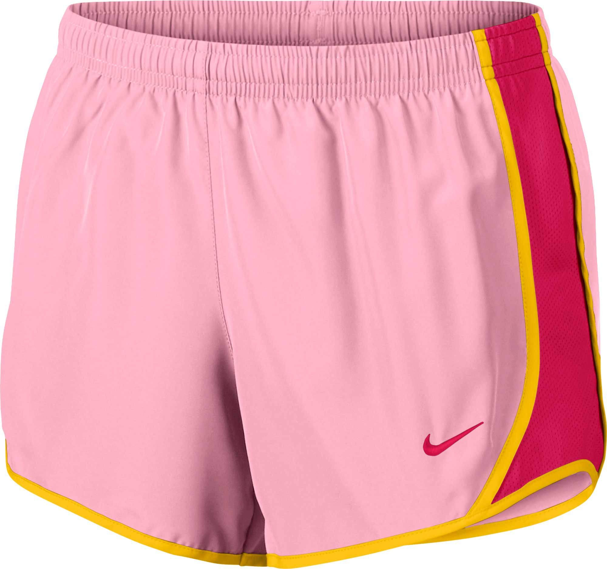 NIKE Girl's Dry Tempo Running Shorts (Pink, X-Large) by Nike