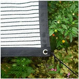 WGGOG Sunshading Neto Tela de Parasol 75% de protección Solar toldos antienvejecimiento Blanca Lona Carpa de Aislamiento a Prueba de Viento Neto hidratante for jardín Pérgola de Efecto Invernadero: Amazon.es: Hogar