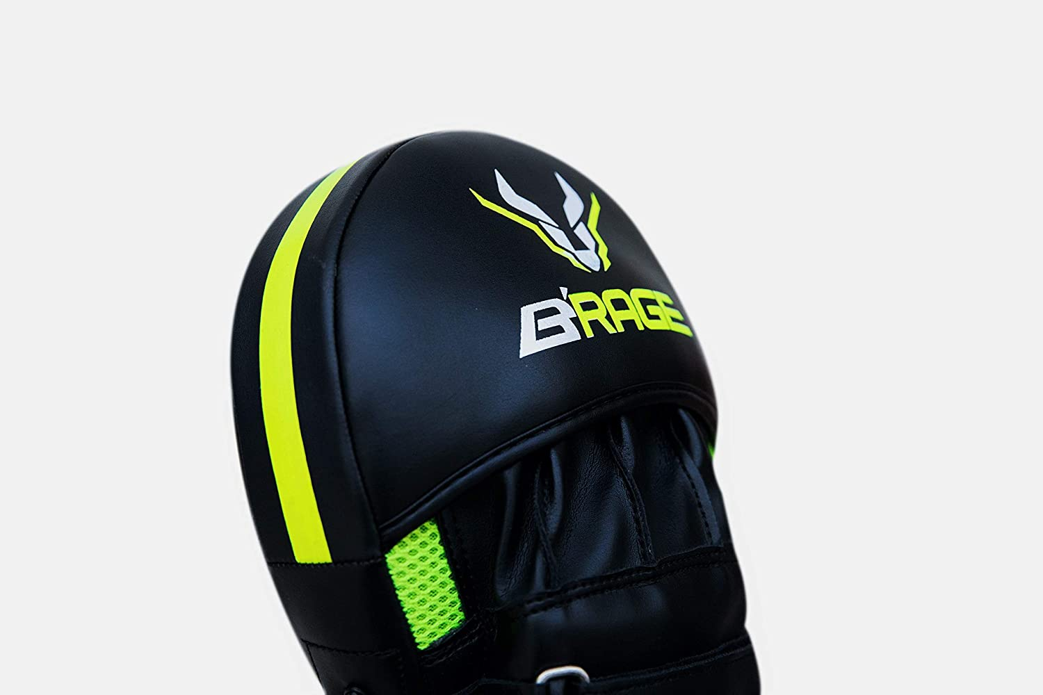 BRAGE-Power of A Raging Bull Martial Arts Pro Impact Curved Punching Mitts Kickboxing Sparring Training Fighting Gear Muai Thai MMA Equipment Strike-Target-Focus-Hand Pads