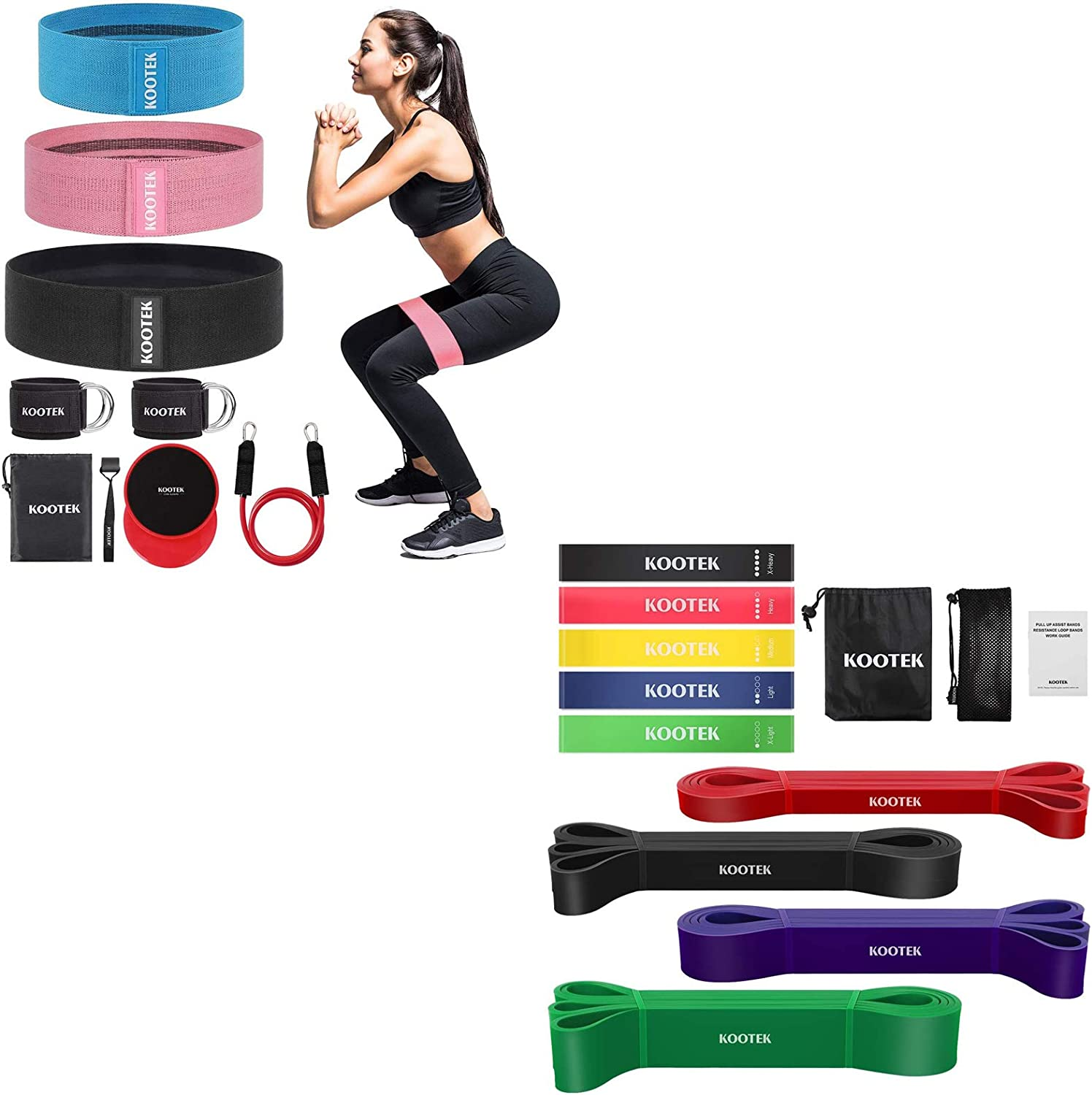 Kootek Resistance Bands, Booty Band for Leg and Butt for Home Gym Workout