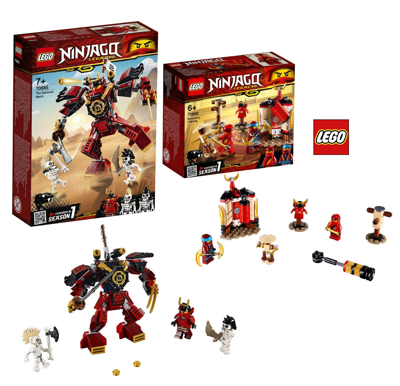 LEGO 70665 - 70680 Ninjago - Robot de samurái: Amazon.es ...