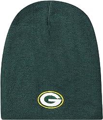 d2ed8f3ec1b9 Capsmith NFL Bay Packers Mens Beanie Knitgreen Bay Packers Non-Cuffed Style  Design Knit Beanie